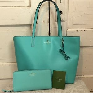 Authentic Kate Spade Sawyer Street Tote and Wallet